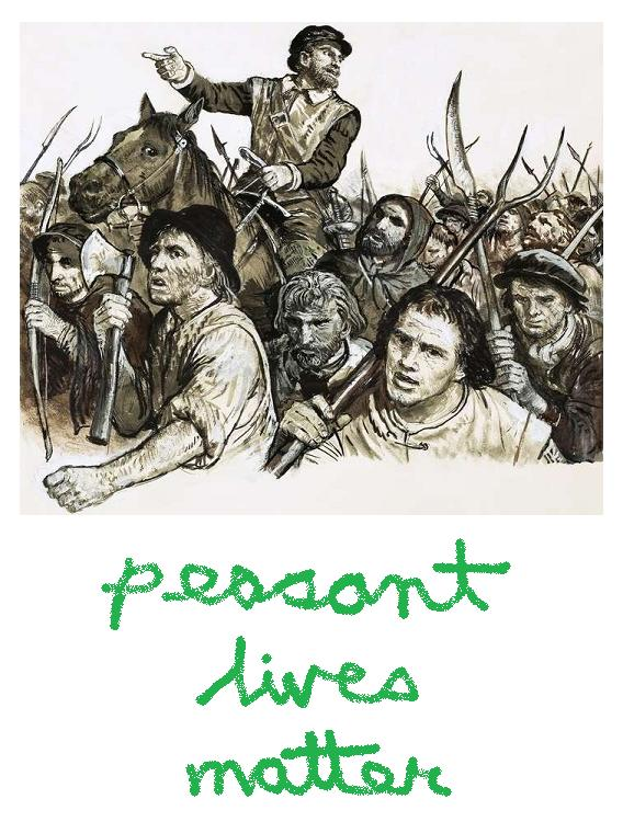'peasant lives matter' poster