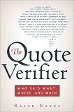 Quote Verifier book by Ralph Keyes
