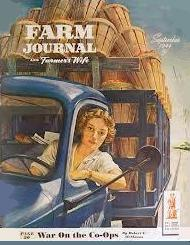 1944 cover of combined Farm Journal Magazine and Farmer's Wife magazine