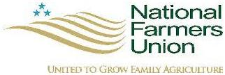 logo for the National Farmers Union [est. 1902] - 'United To Grow Family Agriculture'