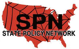 outsider anti-logo for State Policy Network 'dark money' non-profit