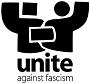 logo for false Unite Against Fascism pressure group