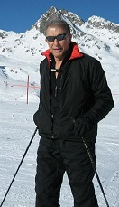Werner Erhard skiing in Switzerland in 2007