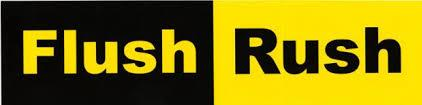 'flush Rush' campaign (yellow & black)