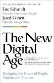 The New Digital Age bestseller book by Eric Schmidt & Jared Cohen