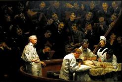 """The Agnew Clinic"" (1889) by American painter Thomas Eakins [1844-1916]"
